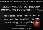 Image of repair of White House Washington DC USA, 1930, second 4 stock footage video 65675050768