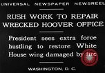 Image of repair of White House Washington DC USA, 1930, second 8 stock footage video 65675050768