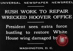 Image of repair of White House Washington DC USA, 1930, second 10 stock footage video 65675050768