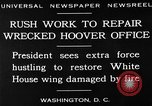 Image of repair of White House Washington DC USA, 1930, second 13 stock footage video 65675050768