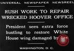 Image of repair of White House Washington DC USA, 1930, second 15 stock footage video 65675050768