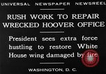 Image of repair of White House Washington DC USA, 1930, second 16 stock footage video 65675050768