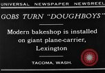 Image of bakeshop on Navy ship Tacoma Washington USA, 1930, second 3 stock footage video 65675050770