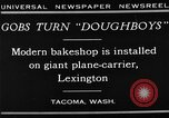 Image of bakeshop on Navy ship Tacoma Washington USA, 1930, second 11 stock footage video 65675050770
