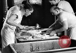 Image of bakeshop on Navy ship Tacoma Washington USA, 1930, second 34 stock footage video 65675050770
