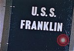 Image of USS Franklin Pacific Ocean, 1945, second 45 stock footage video 65675050826