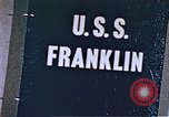 Image of USS Franklin Pacific Ocean, 1945, second 46 stock footage video 65675050826