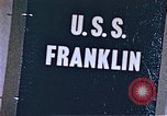Image of USS Franklin Pacific Ocean, 1945, second 47 stock footage video 65675050826