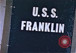 Image of USS Franklin Pacific Ocean, 1945, second 49 stock footage video 65675050826