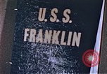 Image of USS Franklin Pacific Ocean, 1945, second 50 stock footage video 65675050826