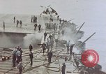 Image of Aftermath of kamikaze attack on USS Enterprise Pacific Ocean, 1945, second 4 stock footage video 65675050831