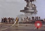 Image of USS Enterprise kamikaze attack Pacific Ocean, 1945, second 49 stock footage video 65675050836