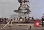 Image of USS Enterprise kamikaze attack Pacific Ocean, 1945, second 50 stock footage video 65675050836