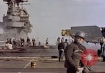 Image of USS Enterprise kamikaze attack Pacific Ocean, 1945, second 52 stock footage video 65675050836