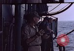 Image of U.S. Navy TBF Avenger aircraft drop practice bombs on target sled Pacific Ocean, 1945, second 45 stock footage video 65675050838