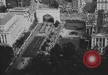 Image of American soldiers parade in Paris after World War I. Paris France, 1919, second 27 stock footage video 65675051031