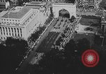 Image of American soldiers parade in Paris after World War I. Paris France, 1919, second 30 stock footage video 65675051031