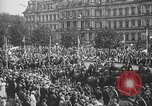 Image of American soldiers parade in Paris after World War I. Paris France, 1919, second 32 stock footage video 65675051031