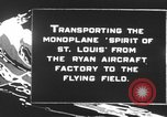 Image of Spirit of Saint Louis monoplane United States USA, 1927, second 3 stock footage video 65675051039