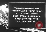 Image of Spirit of Saint Louis monoplane United States USA, 1927, second 4 stock footage video 65675051039
