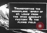 Image of Spirit of Saint Louis monoplane United States USA, 1927, second 6 stock footage video 65675051039