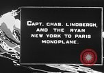 Image of Spirit of Saint Louis monoplane United States USA, 1926, second 5 stock footage video 65675051040