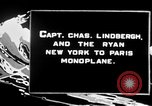Image of Spirit of Saint Louis monoplane United States USA, 1926, second 6 stock footage video 65675051040