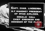 Image of Spirit of Saint Louis monoplane United States USA, 1926, second 26 stock footage video 65675051040