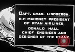 Image of Spirit of Saint Louis monoplane United States USA, 1926, second 27 stock footage video 65675051040