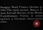 Image of German observation plane Busigny Nord France, 1918, second 1 stock footage video 65675051063