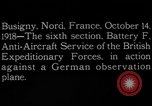 Image of German observation plane Busigny Nord France, 1918, second 2 stock footage video 65675051063