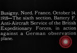 Image of German observation plane Busigny Nord France, 1918, second 3 stock footage video 65675051063