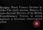 Image of German observation plane Busigny Nord France, 1918, second 4 stock footage video 65675051063