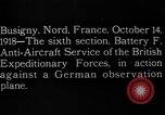 Image of German observation plane Busigny Nord France, 1918, second 7 stock footage video 65675051063