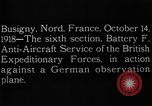 Image of German observation plane Busigny Nord France, 1918, second 8 stock footage video 65675051063