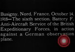 Image of German observation plane Busigny Nord France, 1918, second 11 stock footage video 65675051063