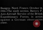 Image of German observation plane Busigny Nord France, 1918, second 12 stock footage video 65675051063