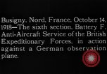 Image of German observation plane Busigny Nord France, 1918, second 13 stock footage video 65675051063
