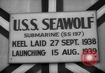 Image of Launching submarine USS Searaven SS-196 Kittery Maine USA, 1939, second 36 stock footage video 65675051086