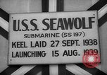 Image of Launching submarine USS Searaven SS-196 Kittery Maine USA, 1939, second 37 stock footage video 65675051086