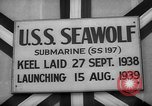 Image of Launching submarine USS Searaven SS-196 Kittery Maine USA, 1939, second 38 stock footage video 65675051086