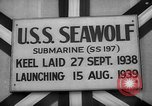 Image of Launching submarine USS Searaven SS-196 Kittery Maine USA, 1939, second 40 stock footage video 65675051086
