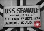 Image of Launching submarine USS Searaven SS-196 Kittery Maine USA, 1939, second 41 stock footage video 65675051086