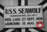 Image of Launching submarine USS Searaven SS-196 Kittery Maine USA, 1939, second 42 stock footage video 65675051086