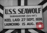 Image of Launching submarine USS Searaven SS-196 Kittery Maine USA, 1939, second 43 stock footage video 65675051086