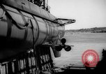 Image of Launching submarine USS Searaven SS-196 Kittery Maine USA, 1939, second 47 stock footage video 65675051086