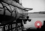Image of Launching submarine USS Searaven SS-196 Kittery Maine USA, 1939, second 49 stock footage video 65675051086