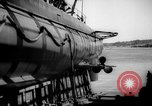 Image of Launching submarine USS Searaven SS-196 Kittery Maine USA, 1939, second 52 stock footage video 65675051086