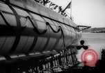 Image of Launching submarine USS Searaven SS-196 Kittery Maine USA, 1939, second 56 stock footage video 65675051086
