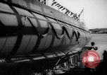 Image of Launching submarine USS Searaven SS-196 Kittery Maine USA, 1939, second 59 stock footage video 65675051086